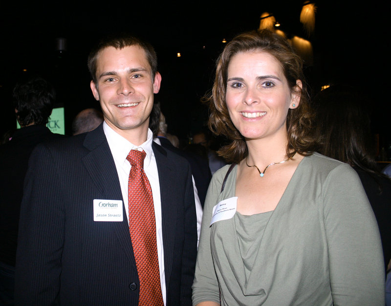 Jason Straetz of Gorham Savings Bank and Betsy Bean of the University of Southern Maine.