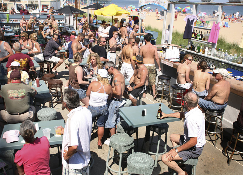 When the weather is right, it's a mob scene on The Brunswick's patio, the largest in Old Orchard Beach.