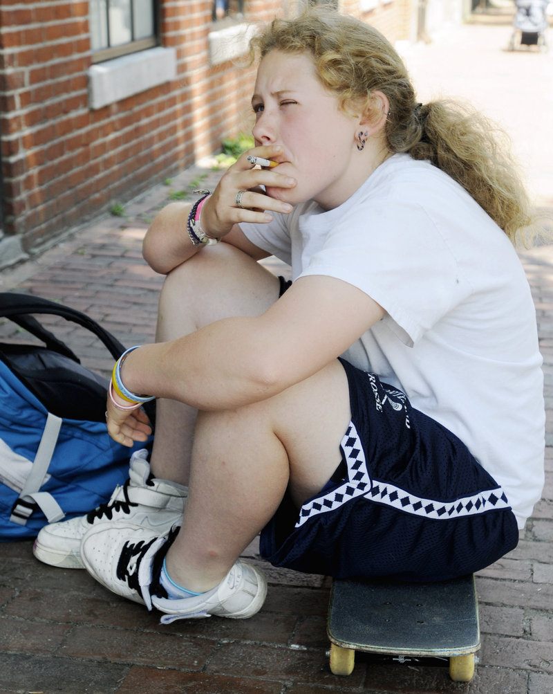 Kaelyn McKay, 17, said she started smoking in sixth grade because she wanted to fit in. A rise in teen smoking is raising concerns.