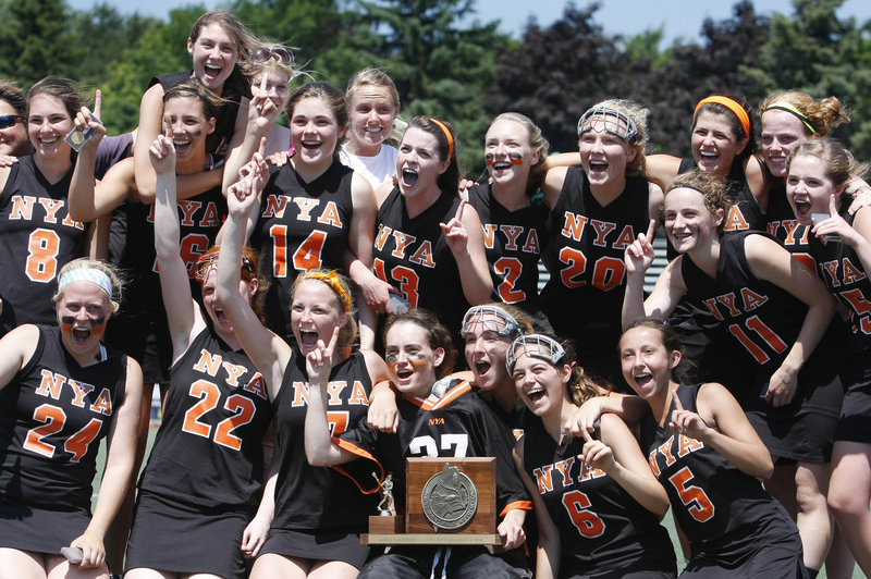 Yes, the North Yarmouth Academy Panthers are No. 1 in Class B girls' lacrosse after a 7-3 victory Saturday over two-time defending state champion Waynflete.
