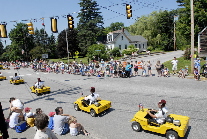 The Kora Renegades play to the Summerfest parade crowd Saturday.