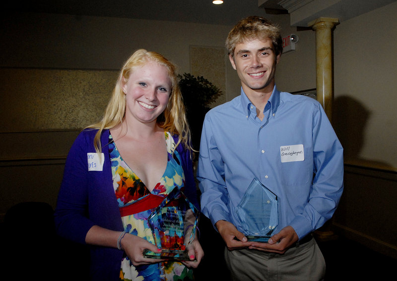 Jenni Roberts of Sanford and Will Geoghegan of Brunswick were selected as the newspaper's athletes of the year.