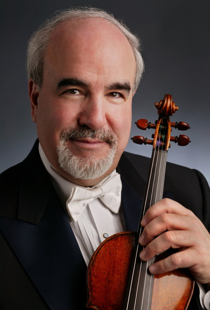 Glenn Dicterow, first violinist of the New York Philharmonic, will be featured in the Bowdoin International Music Festival's first Festival Friday this week.