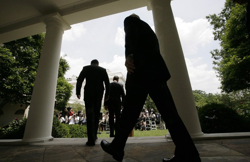 President Obama, followed by Gen. David Petraeus and Defense Secretary Robert Gates, arrives in the Rose Garden to announce that Petraeus would replace Gen. Stanley McChrystal as commander of the Afghanistan war.