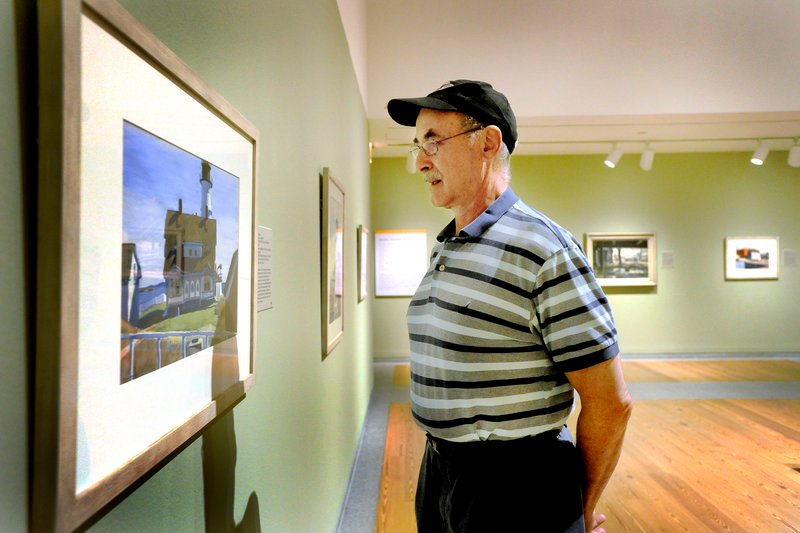 """Ferris Jacobs of Portland takes in the Portland Museum of Art's exhibit """"American Moderns."""" The museum registered its second-highest attendance in the last fiscal year."""