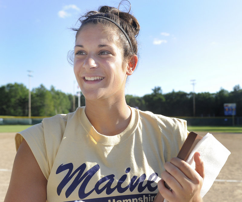 Samantha Bedore of Bangor, who won the Maine Gatorade award, added Miss Maine Softball to her honors Tuesday. Bedore will attend the University of Rhode Island.