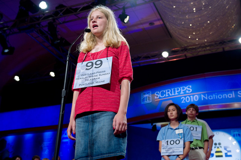 Lily Jordan participates in the preliminary rounds of the Scripps National Spelling Bee in Washington, D.C., today. Speller 99 Lily A. Jordan Scripps National Spelling Bee Washington