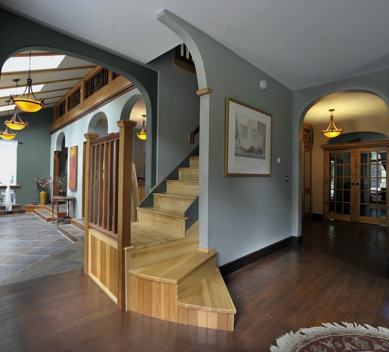 Andy Weymouth, a carpenter, used timber cut from the property for this stairway.