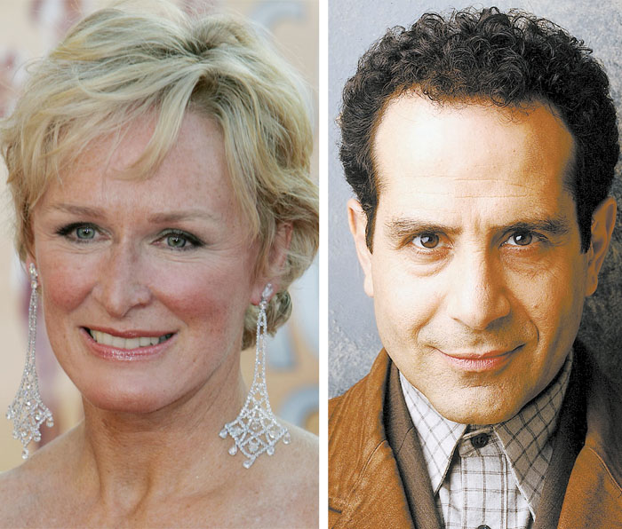"""Glenn Close is nominated in the category of lead actress in a drama series for her role in """"Damages."""" Tony Shalhoub is nominated in the category of lead actor in a comedy series for his role in """"Monk."""""""
