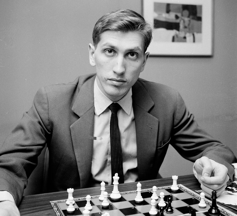 A 1962 file photo shows chess star Bobby Fischer of Brooklyn, N.Y., in New York. Fischer died in Iceland at age 64 in January 2008. He left no will. Legal cases over who has the right to the U.S.-born player's estate are ongoing. chess chess board close up games pieces player
