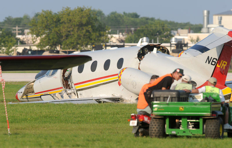 NASCAR team owner Jack Roush was in serious but stable condition after walking away from the crash of his jet at Wittman Regional Airport in Oshkosh, Wis. Roush was landing his plane when the accident occurred.