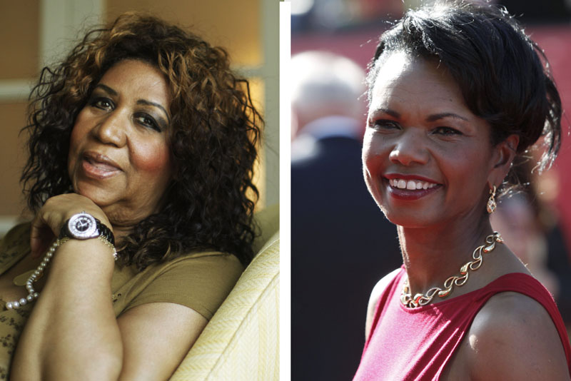 Aretha Franklin, left, will sing her hits (You Make Me Feel Like) A Natural Woman