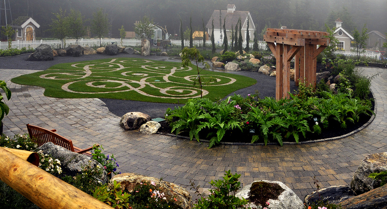 An English maze design is included in the new addition to the Coastal Maine Botanical Gardens.