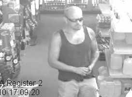 Maine State Police have released this photo of the suspected charity can thief in Litchfield.