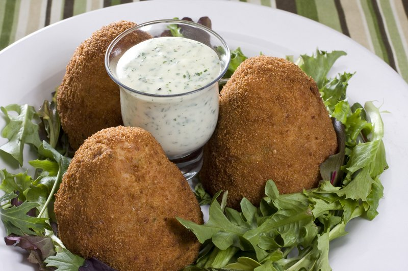 """Adapted from James Villas' """"Pig: King of the Southern Table,"""" these ham croquettes with parsley sauce are great as is ... or add your own favorite ingredients."""