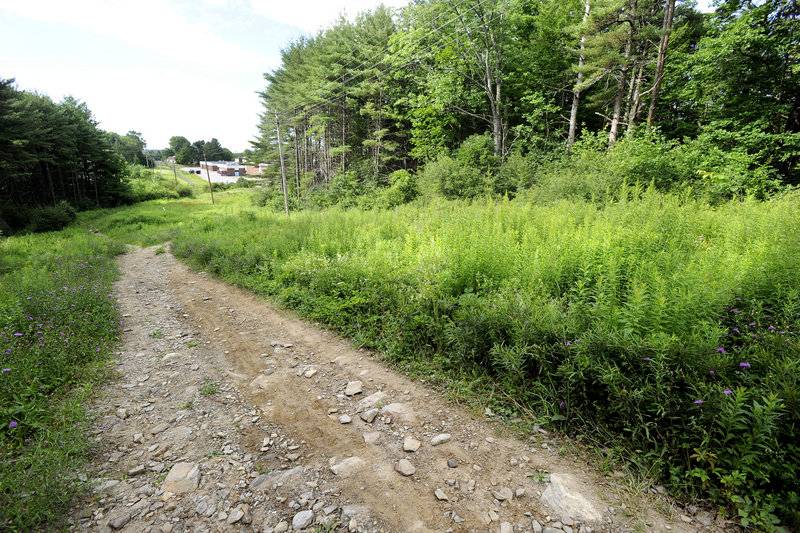 Plans are to improve this path behind the old Wescott Junior High School to be part of the Mountain Division Trail, which starts in Standish near Sebago Lake. Westbrook's leg of the trail begins on Bridge Street and will enter Portland at Bridgton Road.