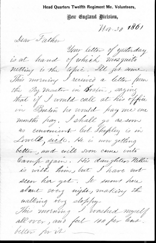 john danas letters describe the everyday life of a union soldier during the civil war