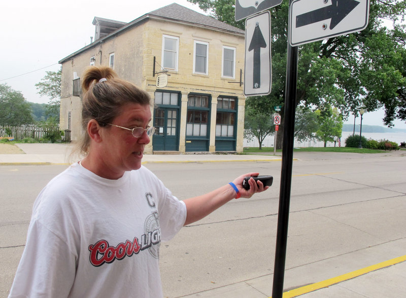 Tammy Muller, a bartender in Bellevue, Iowa, describes Monday how two spooked horses raced through a Fourth of July parade, killing one person and injuring two dozen more.