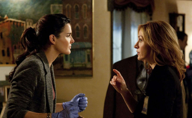 Angie Harmon, left, and Sasha Alexander star in the new TNT series