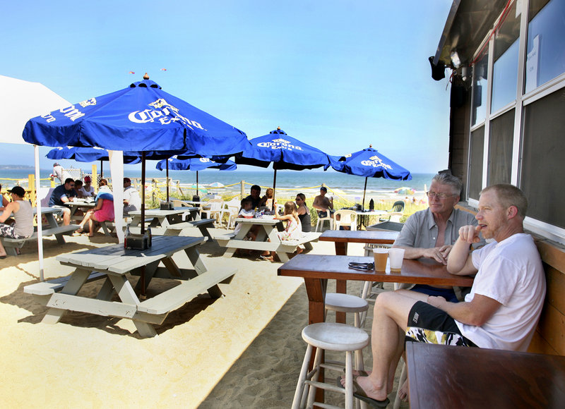 The Pirates Patio in Old Orchard Beach is near the ocean and features a fire pit and a small stage for local live music. The Patio is closed from October to May because the beach is so integral to its identity. But it's plenty popular the months it's open.