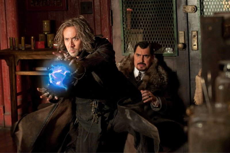 Nicolas Cage, left, as Balthazar Blake and Alfred Molina as Horvath in