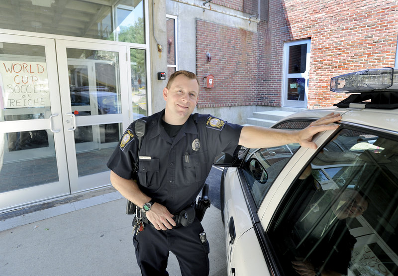 Portland Police Officer Tony Ampezzan is the new senior lead officer for Parkside and the West End and will work out of a new location at Reiche Community School.