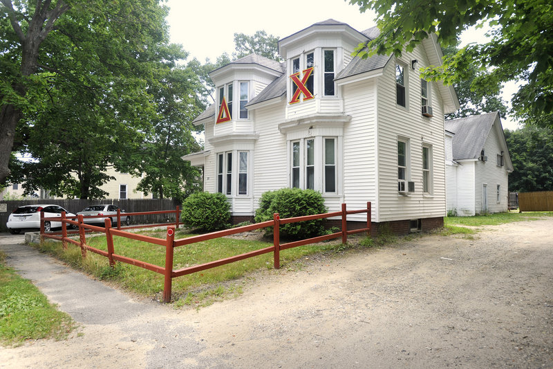 The nearby Delta Chi house, which owes $6,463 in taxes, is at risk of being seized.