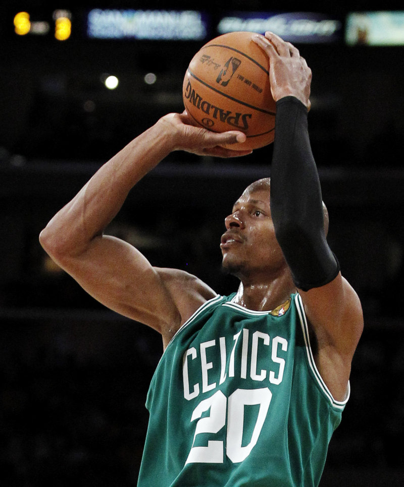 Ray Allen is No. 5 in scoring among active NBA players, but he says it wasn't until he joined the Boston Celtics that he understood what it took to win a championship.