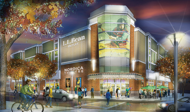 This rendering shows a proposed movie theater in the Freeport Village Station complex. An informational meeting will be held at 6 p.m. Monday in the station's Mallet Building.