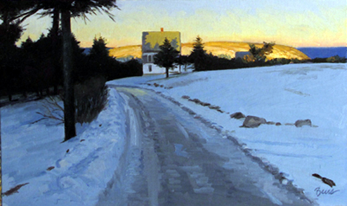 """Icy Bogdanove House"" by Kevin Beers at Gleason Fine Art in Boothbay Harbor"