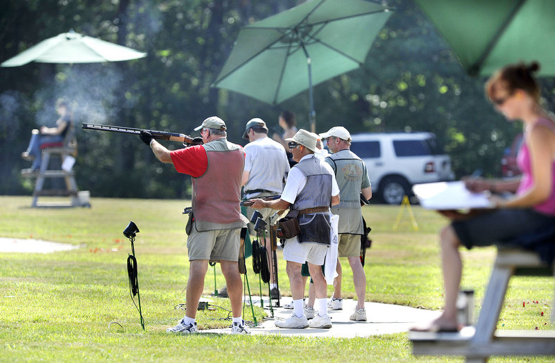 Contestants have the option this weekend of taking part in the full 1,000-target competition, or shooting a much lower number of targets. The event is scheduled to run through Sunday.