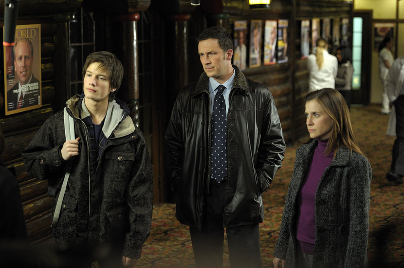 "From left, Justin Kelly, Brady Smith and Kellie Martin appear in a scene from ""The Jensen Project,"" a movie airing tonight on NBC. It's the second installment in what Wal-Mart and P&G hope is a long-running series of family-friendly programs they will bring to TV."