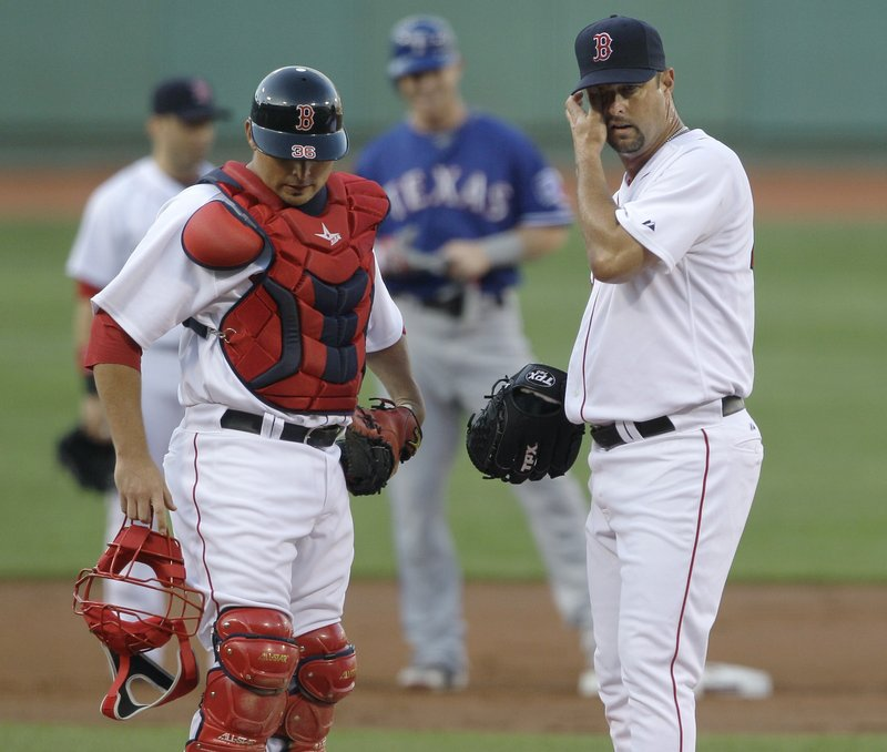 A visit from catcher Kevin Cash could do little for Tim Wakefield in the first inning Thursday night, when he gave up six runs. The Red Sox simply can't keep Wakefield in the rotation.