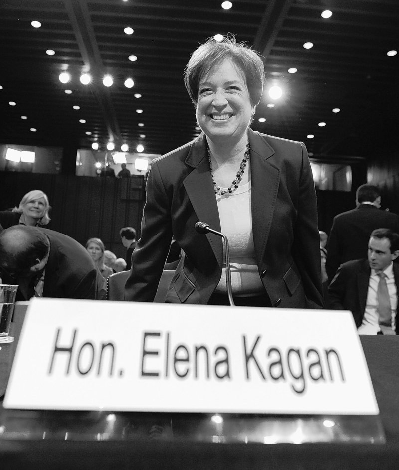 Supreme Court nominee Elena Kagan takes her seat during her confirmation hearings before the Senate Judiciary Committee.
