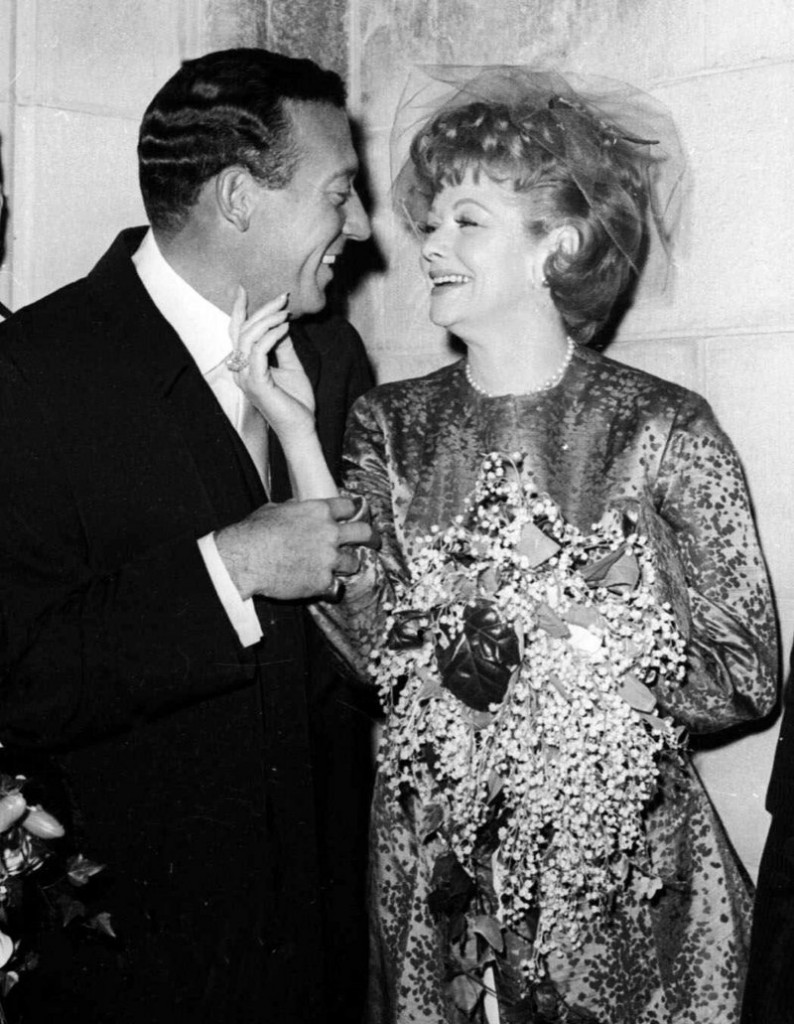 Gary Morton and Lucille Ball pose after their wedding in New York in 1961. After Ball died in 1989, Morton remarried. On Saturday, his widow sold at auction items belonging to Ball.