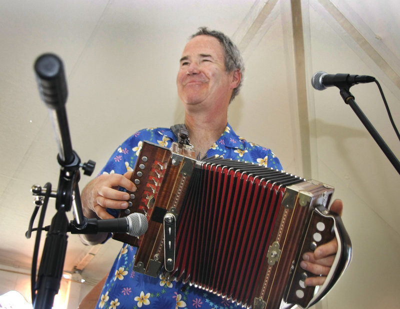 Jimmy Joseph of JimmyJo & the Jumbol'ayuhs entertains with his accordian.