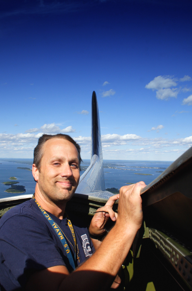Mark Haskell takes a ride over the Portland area in a B-17.