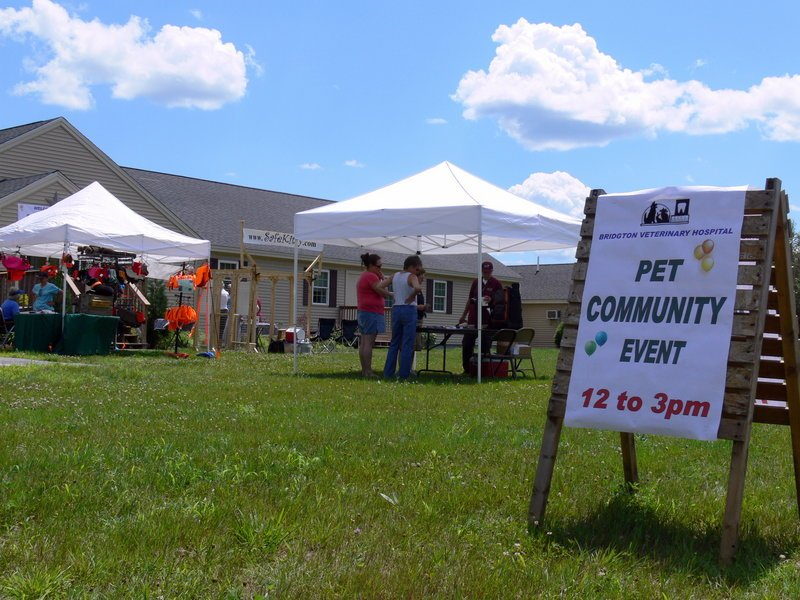 Bridgton residents gather at a pet community event run by the Cumberland County Animal Response Team.