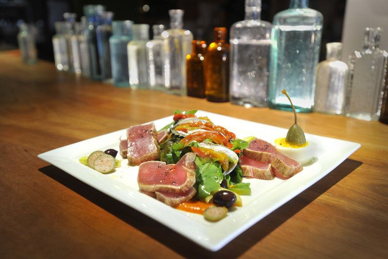 Local tuna nicoise salad with white anchovy, brioche croutons and house-made harissa is a new menu item at the Salt Exchange.