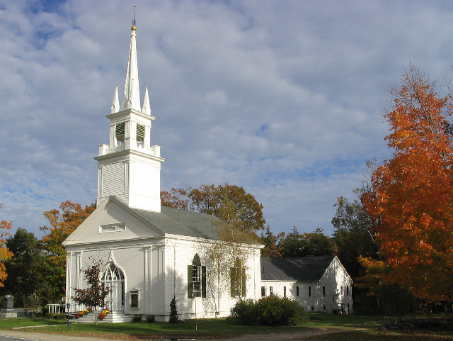 The Elijah Kellogg Church, Congregational was originally known as the Harpswell Centre Congregational Church. It was renamed after the Rev. Elijah Kellogg, who was pastor there from 1844 to 1901, with some interruptions.