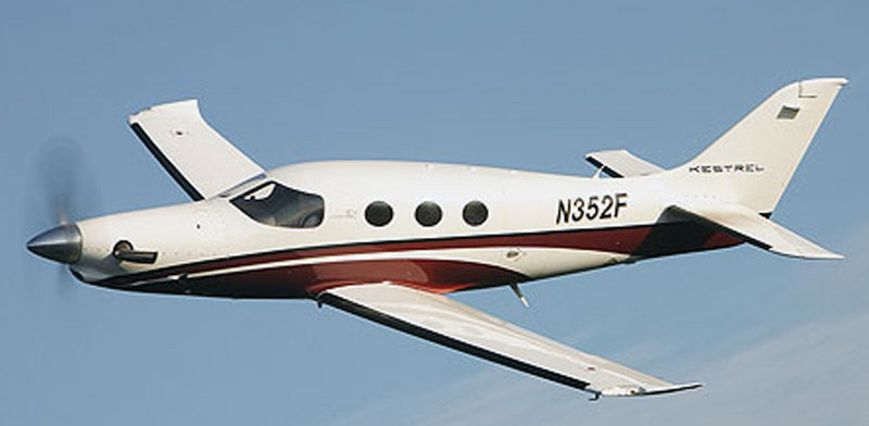 The Kestrel Aircraft Co. plans to build turboprops like this one at Brunswick Landing.
