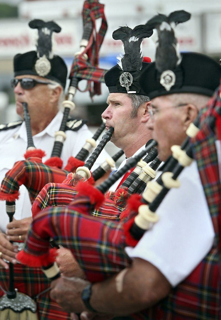 Chuck Kincer and the Kora Highlanders perform during Richmond Days on Saturday. The Kora Highlanders played in the morning parade and did a impromptu performance in the afternoon.