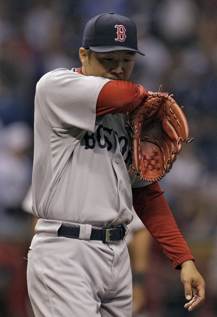 Hideki Okajima's implosion Sunday is evidence that Red Sox's bullpen could use some help via a last-minute trade.