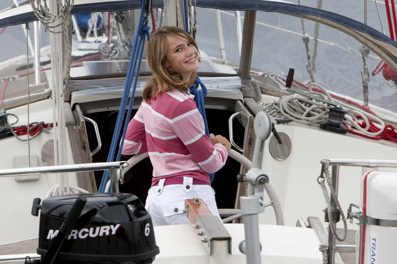 Laura Dekker, 14, is seen Tuesday aboard her 38-foot sailboat named Guppy, moored at Den Osse in southwest Netherlands. Dekker's around-the-world sailing attempt, approved by a Dutch court, comes after last month's Indian Ocean rescue of U.S. teen Abby Sunderland.