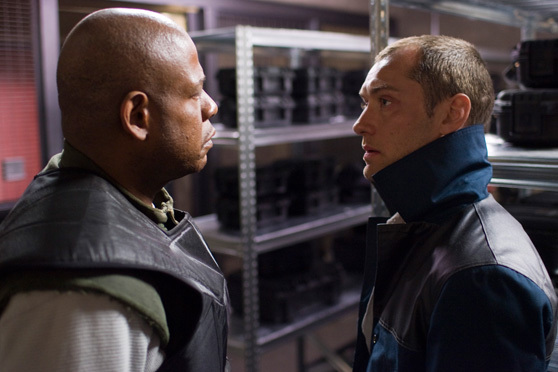Forest Whitaker, left, and Jude Lawstar in the futuristic