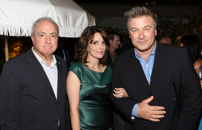 Lorne Michaels, Tina Fey and Alec Baldwin attend the 42 Below Pre-Emmy Party in Los Angeles last September. A live episode of