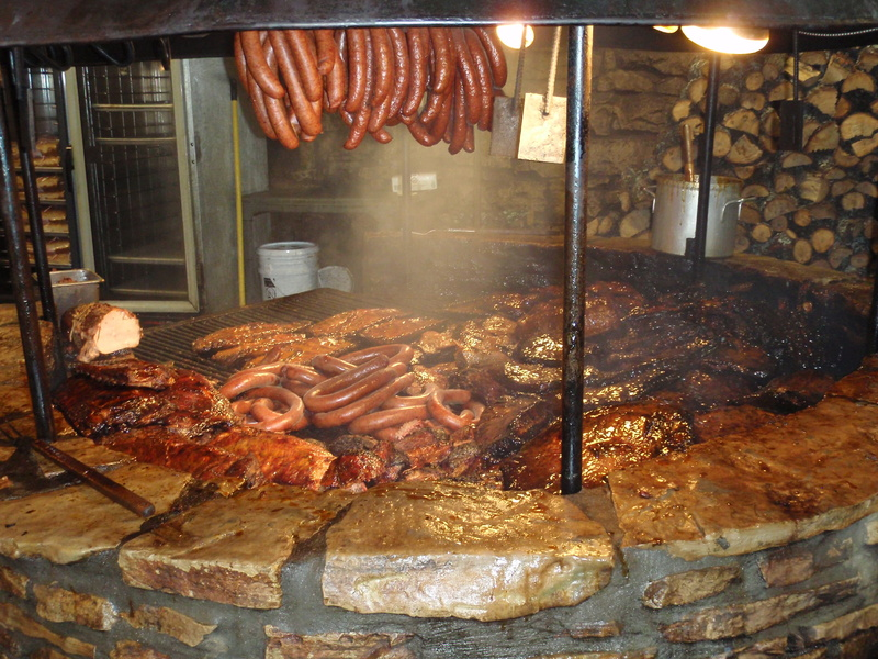 The barbecue pit at the Salt Lick in Driftwood, Texas, pulls in the crowds. The prices are low and you smell the food a quarter-mile away.