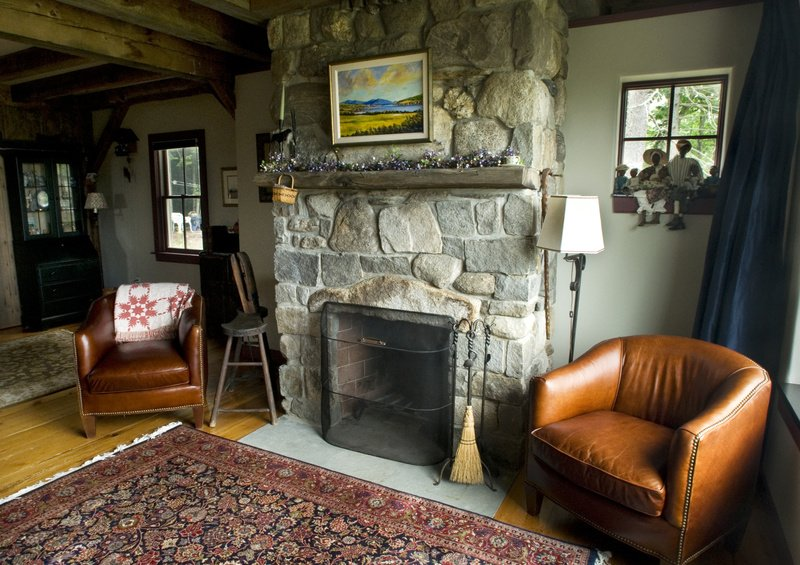From a young age, Harpswell homeowner Allan Brown liked stone houses and old houses. Brown and his wife infused their contemporary home on Great Island with warmth and character by using a lot of stone as well features such as beams and doors from old barns.