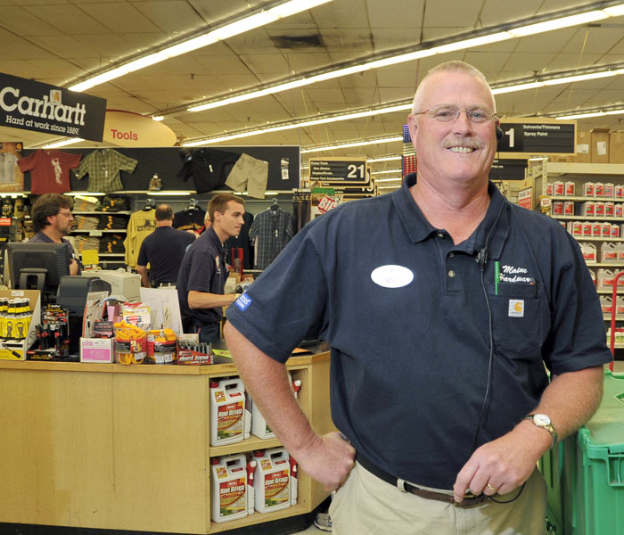 Tom Skelton, president of Maine Hardware, says the important assets of the company include a knowledgeable staff – it includes two former plumbers – and an inventory of hard-to-find hardware items.