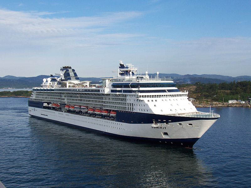 The recently refurbished Celebrity Summit, carries 1,900 passengers.